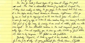 Pat Conroy letter excerpt